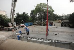 Chế tạo và lắp đặt bồn Axit 3500 tấn
